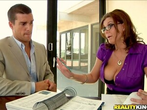 Sarah The Busty Businesswoman Gets Pounded At A Meeting