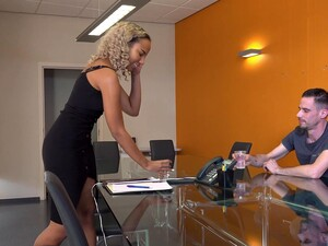 Quickie Interracial Sex In The Office With Ilona Swangerman