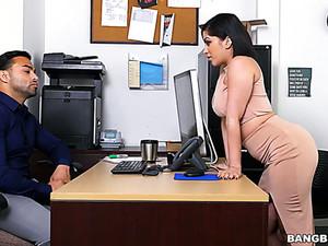 Bokong  besar,Pipi imut,Menunggangi kontol,Ruang kantor