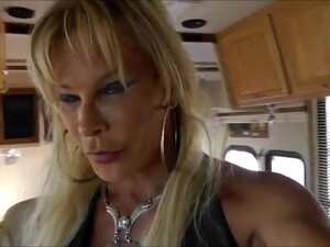 Leather Slut Shemale Swallow