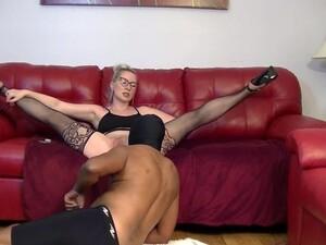 Blonde Goddess Trains Her Black Submissive