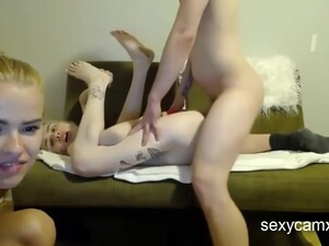 18 Years Old In Hard Ass Fuck Nailing And Dildoing For Two Cute Raunchy 18-year-olds