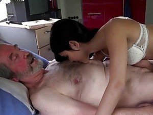 Young Whore And Dirty Old Man Have A Fuck Session