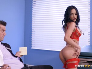 Brunette Tia In High Heels Throbbed Hardcore By Horny Doctor