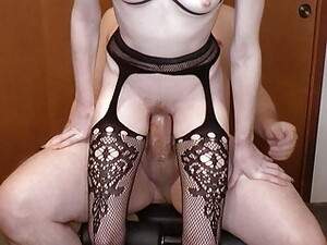 Somegirth, Thick Cock For Petite Blonde In Stockings On Bed
