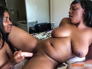 Thick Busty African Lesbian Lovers