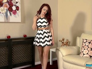 Red Haired British Babe Georgie Newman Gets Naked And Dances