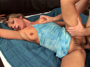 Hussy Milf Gets Her Hairy Pussy And Stretched Ass Hole Fucked