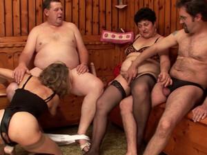 Swingers Arrange Dirty Orgy In The Sauna