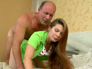 Kinky Teacher Doggy Fucks Wanton Long Haired Teen In His Bed Hard