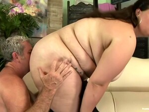 Bbw Rides Cock And Face Of Old Pervert Fart