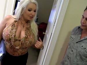 Mega Busty Milf Rachel Love Seduces One Horny Young Dude