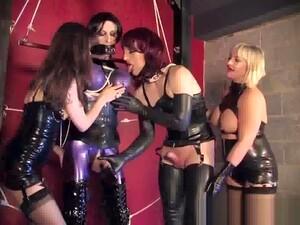 Latex Bondage Sissy Used To Amuse Two Mistresses