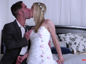 A Bride Gets Her Ass Eaten And Pussy Fucked On Her Wedding Day