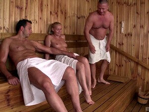 Sophie Lynx And Lina Napoli Attack A Guy In A Sauna