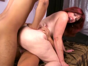 It Takes Two To Handle Hefty Redhead