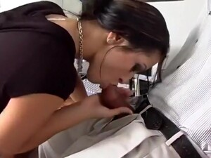 Office Slut Leah Chokes On Black Cock