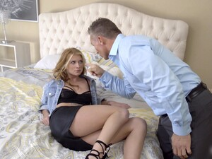 Smoking Stepdaughter Arya Fae Is Grounded And Fucked By Strict Stepdad