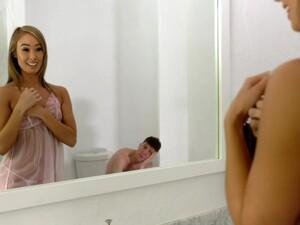 Meeting Half Naked Stepmom In The Bathroom