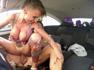 Ardent Whore With Big Tits Gina Snake Gonna Ride Strong Cock In Car