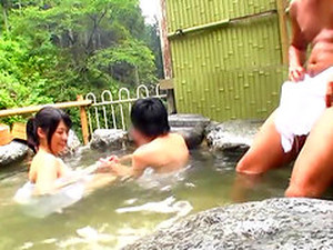Babe At The Japanese Baths Fucks A Man She Just Met