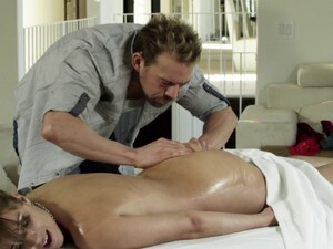 Busty Cowgirl With Hot Ass Being Given Massage Then Banged Hardcore Doggystyle