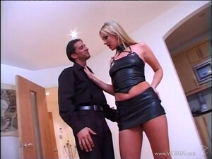 Sexy Blonde Cowgirl  In A Miniskirt Getting Banged Hardcore