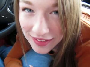 Pretty Girl With Dirty Mind Gemma Minx Gives Head In Car