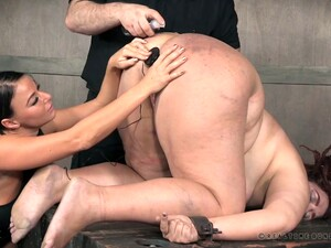 Submissive Chubby Whore Mimosa Gets Tied Up And Brutally Teased With Toys