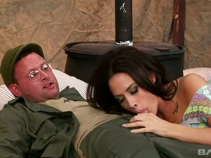 Awesome Big Breasted Nurse From Field Hospital Chanel Preston Gives BJ
