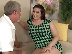 Plump Brunette With Big, Bouncy Tits, Angel Deluca Got Fucked Hard In A Doggy- Style Position