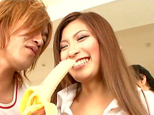 Desirous Asian College Girl Gets Cum On Her Tits After Riding A Wang