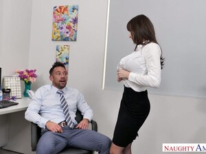 Stunning And Curvy Office Slut Lexi Luna Blows Cock Of Her Colleague