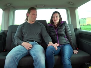 Brunette Teen Amanda Picked Up On The Street And Fucked In A Car