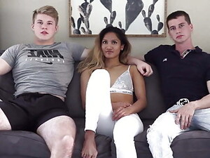 BIG DICK From London Splits Teen HOLE On Troy AND Asian Tina
