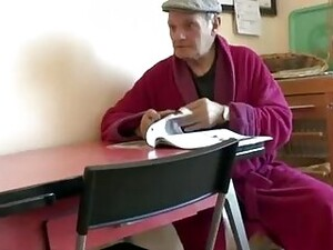 Elderly Man Is About To Get A Blowjob From His Asian Nurse And Even Fuck Her