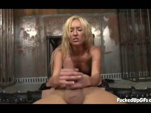 Sexy Blonde Dominant Strokes Slave's Huge Boner And Blows - Victoria White