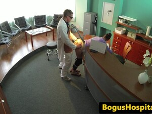 Real Euro Patient Bentover And Fucked Closeup