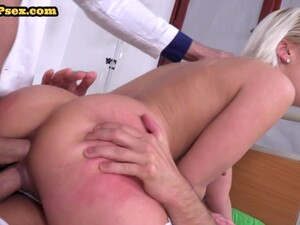 DP Nurse Double Penetrated In Threesome