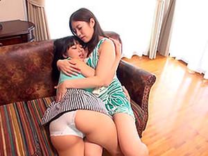 Wondrous Big Boobs On Two Japanese Lesbian Beauties