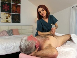 Yummy Red Haired Masseuse Lola Fae Gets Intimate With Old Client