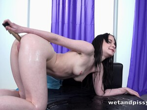 Piss Loving PAWG Sweetie Plum Is Vaginally Plugged With A Toy