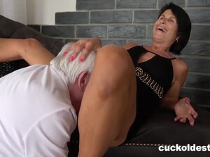 Granny Cant Wait To Be Cuckolded