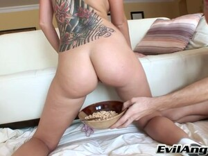 Tattooed Girl Tricia Oaks Gets Her Butt Filled With A Long Cock