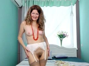 Small Boobs MILF Helena Volga Enjoys Pleasuring Her Wet Pussy