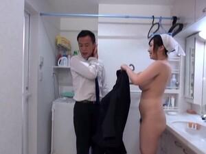 Passionate Fucking In The Bathroom With Busty Maid Wakatsuki Mizuna