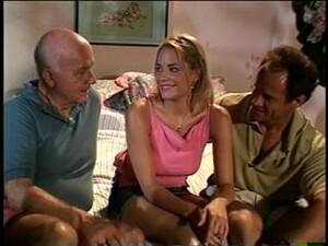 Old Man Watches His Hot Blonde Wife Take Hard Cock From Behind
