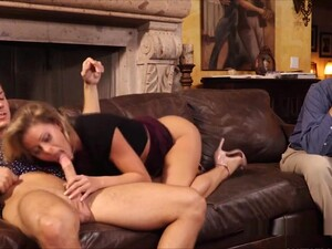 Cuckold Watches Sex Addict Wife On Cock