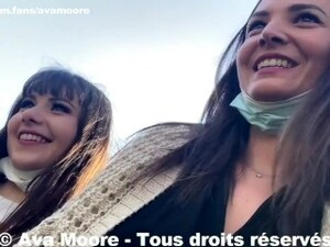 Ava Moore - We Suck A In The Toilet Of A Park In Lyon With Luna Rival - PORNO REALITE