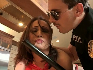 Hot Babe Kristina Rose Is In The Kitchen Having Sex With A Police Officer